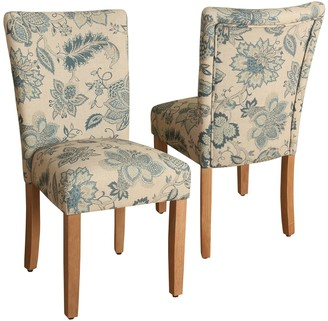 HomePop Lexie Floral Dining Chair 2-piece Set