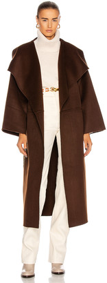 Totême Annecy Coat in Dark Brown | FWRD
