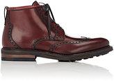 Salvatore Ferragamo Men's Giasone Wingtip Boots-DARK PURPLE