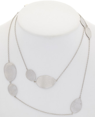 Rivka Friedman Rhodium Clad 36In Station Necklace
