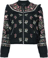 Needle & Thread floral embroidered bomber jacket