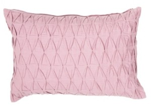 """Jaipur Living Sonali Pink Solid Poly Throw Pillow 14"""" x 20"""""""