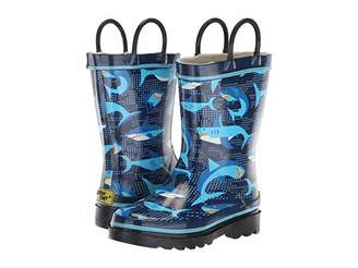 Western Chief Limited Edition Printed Rain Boots (Toddler/Little Kid) (Pixel Shark Camo) Boys Shoes