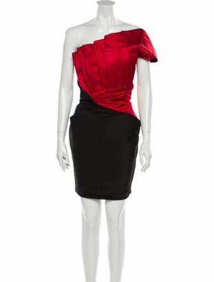 Prabal Gurung Silk Mini Dress Red