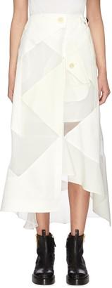 Sacai Solid mix asymmetric skirt