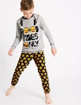 Marks and Spencer Emoji Print Pyjamas (7-16 Years)