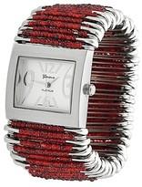 Geneva Platinum Women's Bead Safety Pin Stretch Watch