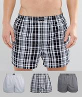 Polo Ralph Lauren 3 Pack Boxers Woven Black/white Stripe & Checks