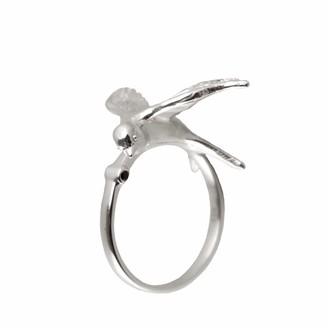 Roz Buehrlen Statement Silver Swallow Ring