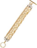 Lydell NYC Golden Multi-Strand Crystal Chain Bracelet