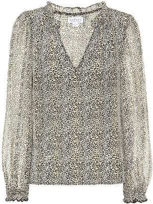 Velvet Mel leopard-print blouse