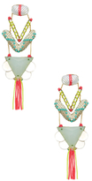 Deepa Gurnani Crystal Fringe Drop Earrings