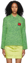 Thumbnail for your product : Charles Jeffrey Loverboy Green Lambswool Texture Sweater