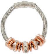 Kenneth Cole New York Two-Tone Pavé Ring Bracelet