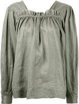 Joseph gathered blouse - women - Silk/Ramie - 36