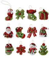 Kurt Adler Set of 12 Petite Treasures Mini Ornaments