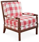 Dana Gibson Parthie Spindle Chair - Raspberry Gingham