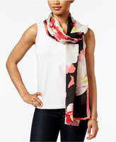 Vince Camuto Silk Blossom Oblong Scarf