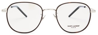 Saint Laurent Round Metal Glasses - Womens - Silver