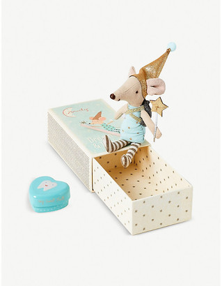Selfridges Maileg cotton Tooth Fairy Mouse in a box 7cm
