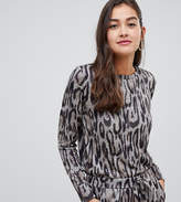 ea6a8c4c2e3b2 Grey Leopard Print Top - ShopStyle UK