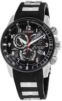 Citizen AT4138-05E Stainless Steel & Polyurethane with Black Dial 43mm Mens Watch