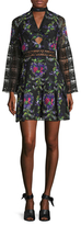 Anna Sui Bird Garland Printed Flared Dress