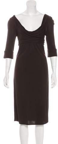 Diane von Furstenberg Cowl Neck Midi Dress