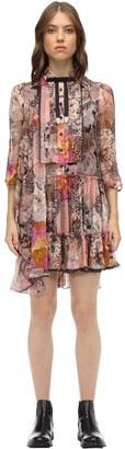 Coach Printed Silk Chiffon Dress