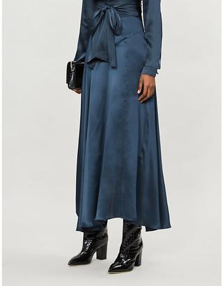 Le Kasha High-waisted silk midi skirt