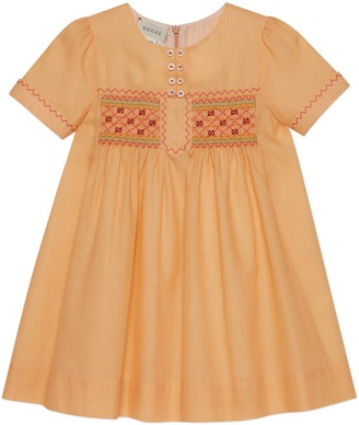 Gucci Children's cotton dress with embroidery