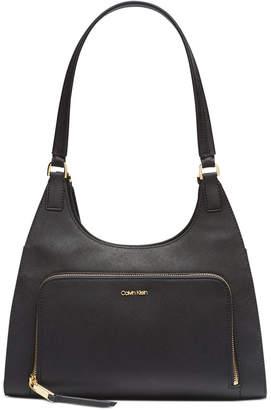 Calvin Klein Ava Hobo Leather Shoulder Bag
