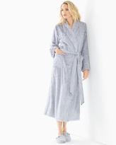 Soma Intimates Luxe Marble Long Robe Silver Diamond W/Black