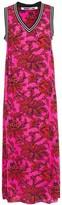 McQ Floral-print Crepe Midi Dress