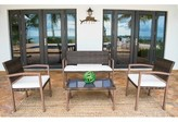 Oasis 4 Piece Sofa Seating Group Bayou Breeze Cushion Color: Dolce