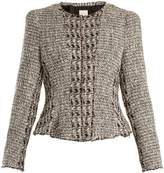 Rebecca Taylor Mixed Tweed cropped cotton-blend jacket