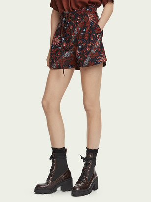 Scotch & Soda High-rise 100% cotton paper bag shorts | Women