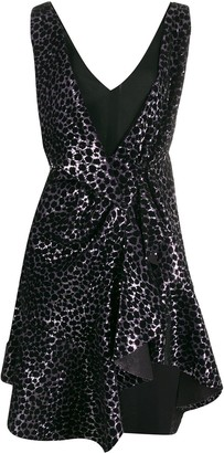 Philosophy di Lorenzo Serafini Animal-Print Sequinned Dress