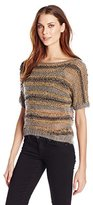 Bird by Juicy Couture Women's Novelty Knitted Suede Sweater