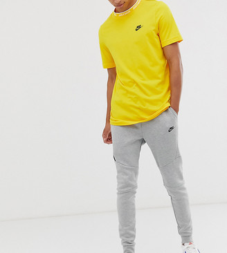 Nike Tall Tech Fleece cuffed jogger in grey