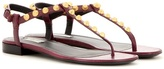 Balenciaga Giant Stud Leather Sandals