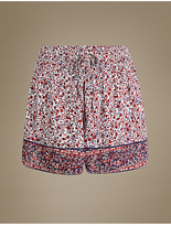 M&S Collection Floral Print Short Pyjama Bottoms