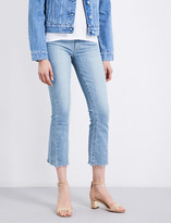 Paige Colette frayed-hem flared cropped high-rise jeans
