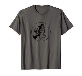 Kundalini Yoga Shiva's Silhouette Digital Hand Drawn Vector T-Shirt