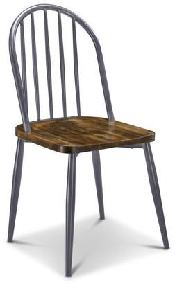 Apt2B Garfield Dining Chair GUNMETAL/WALNUT - SET OF 2