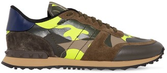 Valentino Low Top Rock Runner Leather Sneakers