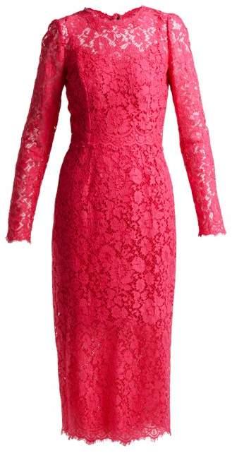 Dolce & Gabbana Cordonetto Lace Midi Dress - Womens - Pink
