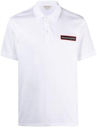 Alexander McQueen Logo Patch Cotton Polo Shirt