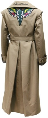 Gucci Brown Cotton Trench Coat for Women