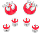 Star Wars STARWARS Rebel Alliance Symbol Cuff Links & Stud Gift Set